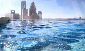 Самый страшный бассейн со стеклянным дном на высоте 150 метров