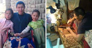 Жена бросила мужа инвалида с детьми, но он не сдался, а начал шить сумки из кожи