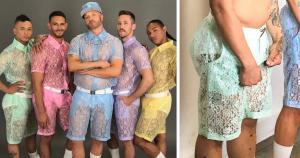 Кружевные просвечивающиеся шорты для мужчин существуют. Что вы можете сказать по этому поводу?