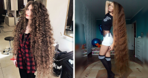27-летняя россиянка выглядит, как настоящая Рапунцель, она не стригла волосы 14 лет