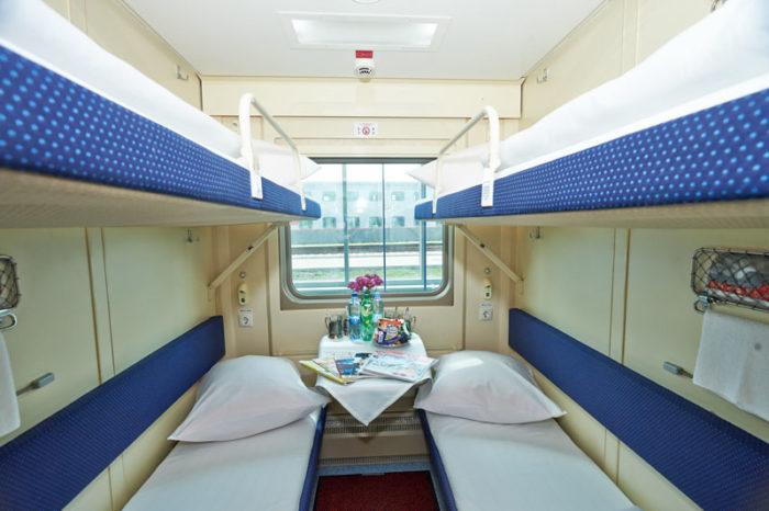 В купе поезда