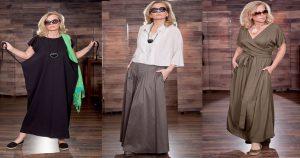 Элегантные образы для пышных дам старше 40