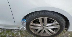 Если вы обнаружили бутылку на колесе машины – вы в большой опасности!