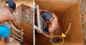 Два парня увидели кота в колодце и решили его спасти. Но когда спустились, были приятно удивлены