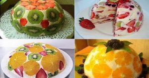 Очень вкусный и простой фруктовый торт без выпечки – сплошное наслаждение!