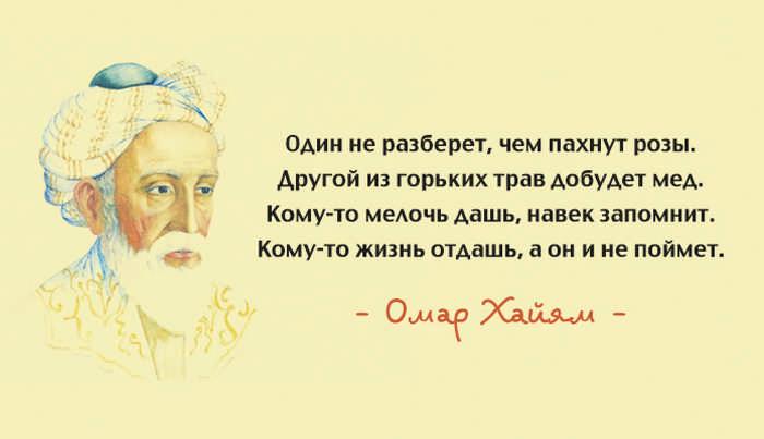 Лучшие цитаты Омара Хайяма о мудрости жизни