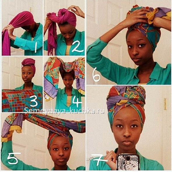 23 способа завязать палантин на голове
