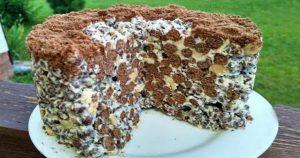 Обалденный хрустящий торт без выпечки всего за 2 минуты