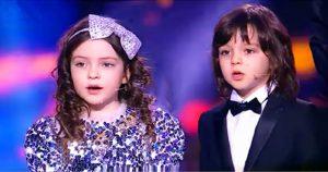 Любящие дети Алла-Виктория и Мартин на юбилее у отца исполнили песню!