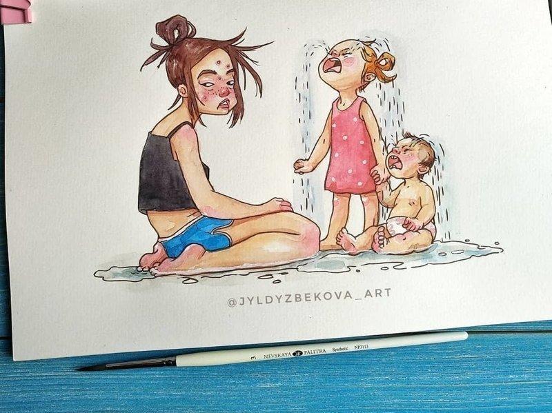 Жизненные комиксы, которые поймут и прочувствуют только те, у кого есть дети