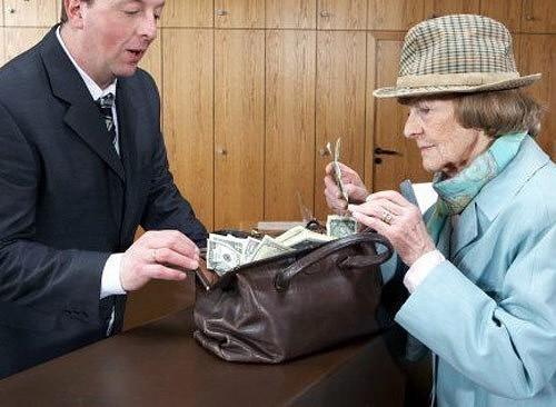 ПАРИ. Женщина заходит в Национальный Банк, держа в руках мешок денег. Она настаивает, что должна говорить только с Президентом банка…