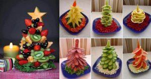 Варианты оформления новогодней нарезки