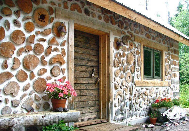 Необычный дом из обычных дров. В доме тепло даже в морозную зиму!