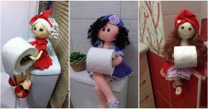 Кукла-держатель туалетной бумаги. Мастер-класс от автора идеи. Очень красиво!