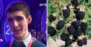 Подросток получил премию ″детского Нобеля″ за то, что открыл полезное свойство ежевики