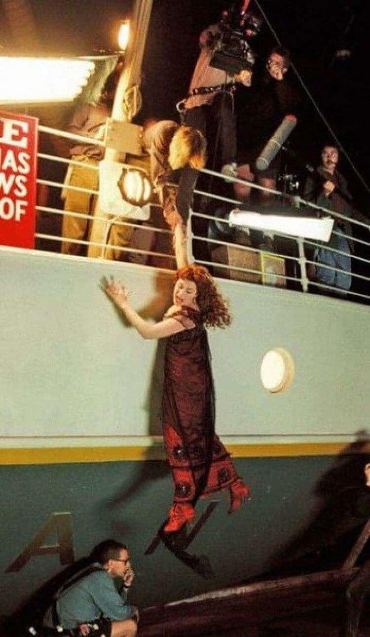 13 кадров со съёмок Титаника, после которых фильм не будет для вас прежним