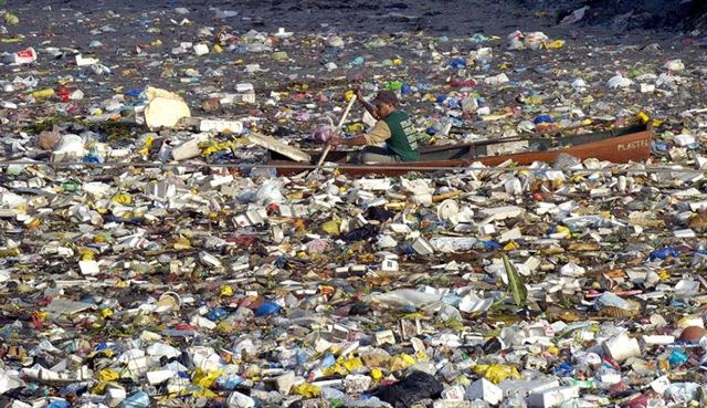 В Тихом океане из пластикового мусора образовался целый остров