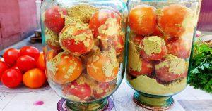 Простой и интересный рецепт заготовки помидор