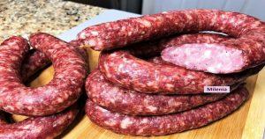 Домашняя колбаса Краковская в духовке