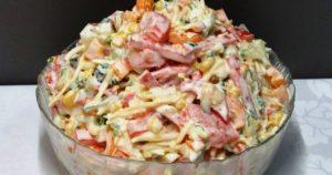 Интересный салат «Мексика» — варить ничего не надо