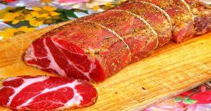 Сыровяленое мясо с чесноком. Любимый рецепт