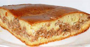 Простейший пирог с мясом без особой возни