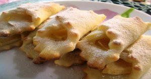 Низкокалорийные творожные печенья с яблоками без яиц и масла