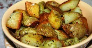 Картофель, запеченный в чесночном масле с сыром к мясу и рыбе