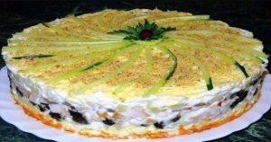 Салат – торт, который займет главное место на праздничном столе