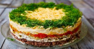 Нежный печеночный салат