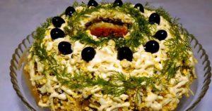Вкусный и красивый салат «Купеческий»