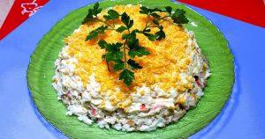 Салат с консервированной рыбой и плавленым сырком. Без хлопот и проблем