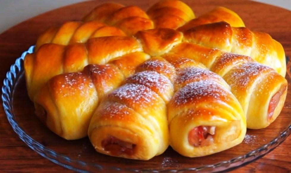 Отрывной пирог «Яблочные дольки»