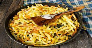 Как готовят жареную картошку в ресторане