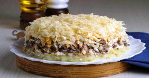 Салат «Австрийский» — готовлю его постоянно! Слоенный, мягкий и легкий