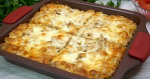 Ароматная запеканка из картофеля и фарша на ужин