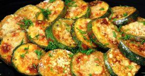 Хрустящие кабачки с сыром, запеченные в духовке. Вкусная закуска!