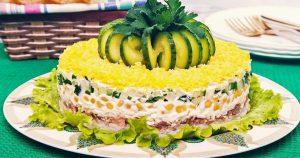 Вкуснейший салат «Диана» на праздничный стол! Свекровь рассказала рецепт