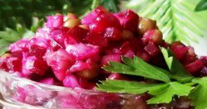 Невероятный салат из свеклы, селедки и горошка. Вместо «шубы»