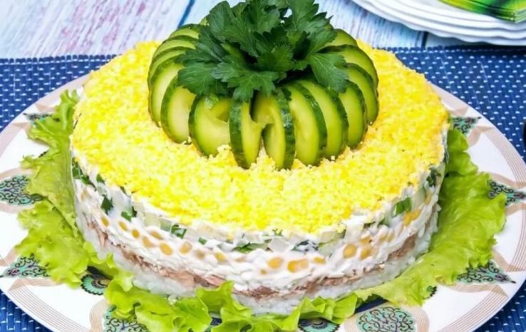 Вкуснейший салат «Диана» на праздничный стол! Коронное блюдо моей свекрови, мы его обожаем. Свекровь рассказала рецепт